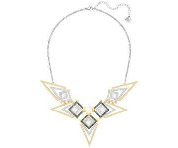 Swarovski Swarovski Golden Necklace, Blue Light Multi