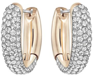 Swarovski Swarovski Circlet Hoop Pierced Earrings, Small, Gray, Mixed Plating Gray