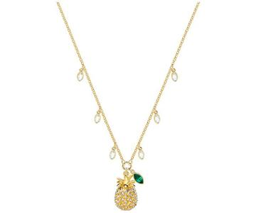 Swarovski Swarovski Lime Pineapple Necklace, Multi-colored, Gold Plating Light Multi Gold-plated