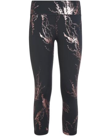 Sweaty Betty Disco Foil High Waisted Cropped Workout Leggings