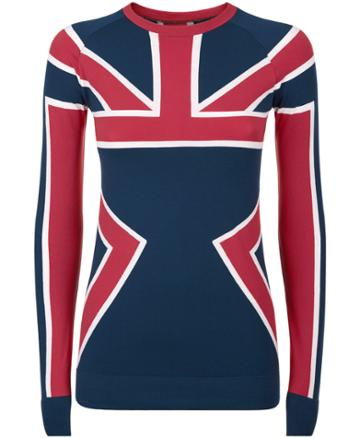 Sweaty Betty Union Jack Ski Seamless Long Sleeve Base Layer Top