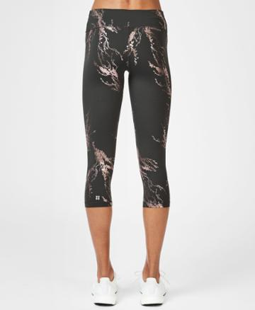Sweaty Betty Disco Foil Cropped Workout Leggings