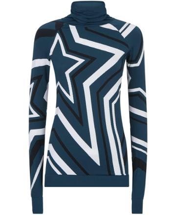 Sweaty Betty Festive Star Seamless Long Sleeve Base Layer Top