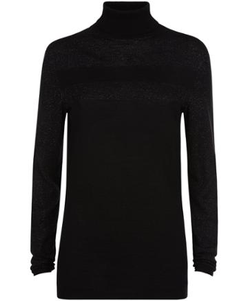 Sweaty Betty Alpine Glitter Merino Turtleneck Sweater