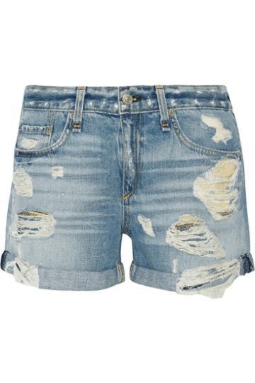 Usd The Boyfriend Distressed Denim Shorts