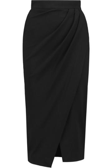 Iris And Ink Wrap-effect Ponte-jersey Skirt