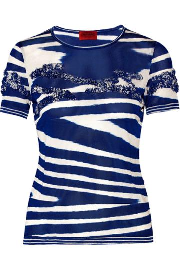 Missoni Boucl-trimmed Jersey Top