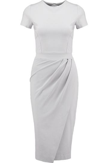 Iris And Ink Wrap-effect Ponte-jersey Dress