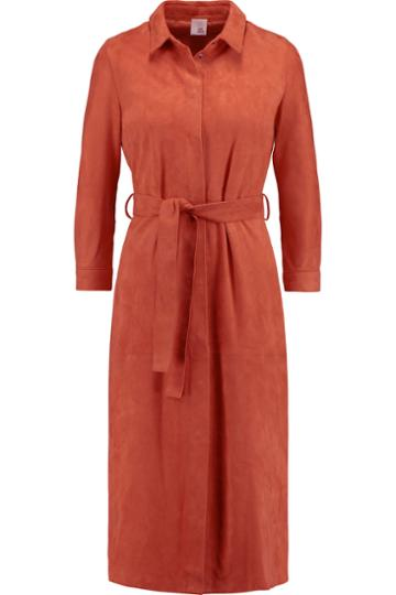 Iris And Ink Suede Shirt Dress