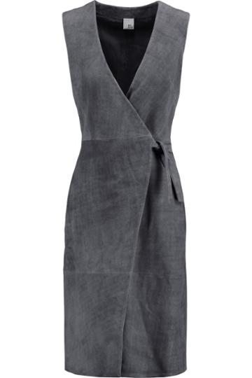 Iris And Ink Suede Wrap Dress