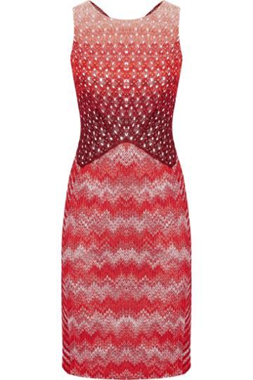 Missoni Metallic Paneled Crochet-knit Dress