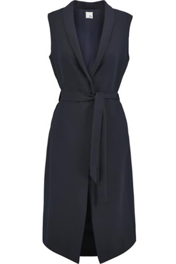 Iris And Ink Belted Crepe Gilet