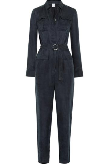 Iris And Ink Military Cupro-blend Jumpsuit