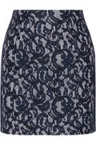 Carven Lace And Cotton Mini Skirt