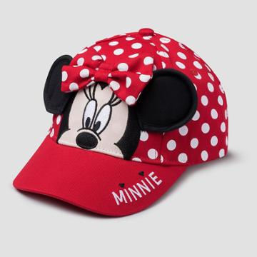 Toddler Girls' Mickey Mouse & Friends Minnie Mouse Polka Dot Baseball Hat - Red