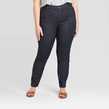 Women's Plus Size High-rise Skinny Jeans - Universal Thread Rinse 14w, Women's, Blue