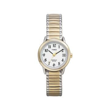 Women's Timex Easy Reader Expansion Band Watch - Two Tone T2h381jt, White