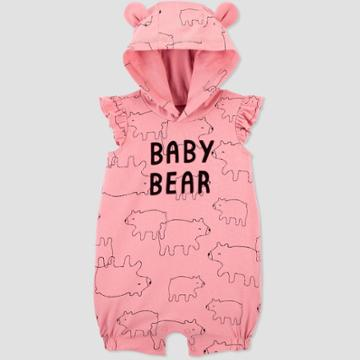 Baby Girls' Baby Bear Romper - Just One You Made By Carter's Pink Newborn