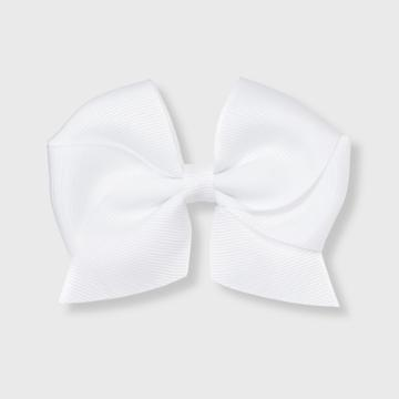 Girls' Solid Bow Clip - Cat & Jack White