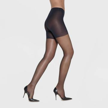 Hanes Premium Hanes Solutions Women's Sheer High-waist Shaping Pantyhose - Black