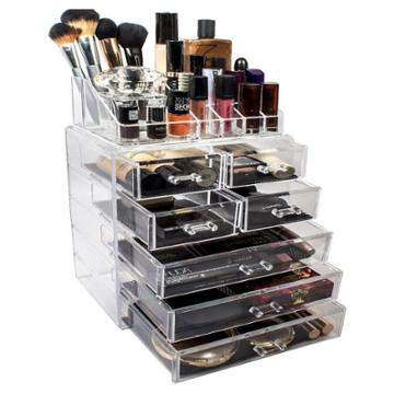 Sorbus Acrylic Cosmetic Makeup And Jewelry Storage Case Display