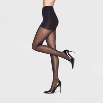 Hanes Premium Women's Pinstripe Perfect Tights - Black