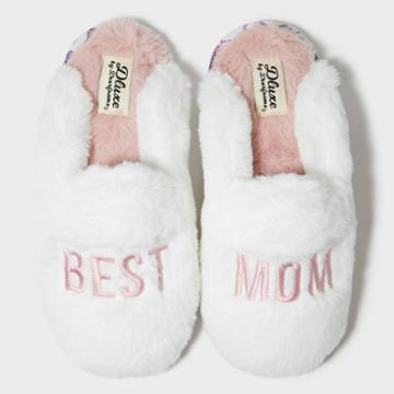 Women's Dluxe By Dearfoams Best Mom Slippers - Alabaster