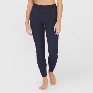 Assets By Spanx Women's Jean-look Leggings - Indigo S, Size: