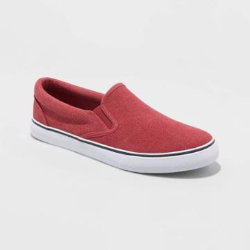 Men's Phillip Slip On Sneakers - Goodfellow & Co Red