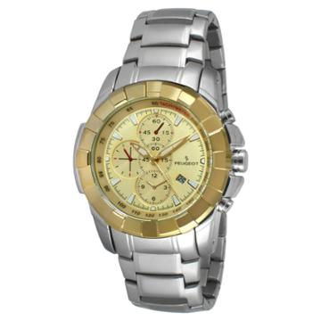 Peugeot Watches Men's Peugeot Dial Watch- Champagne,