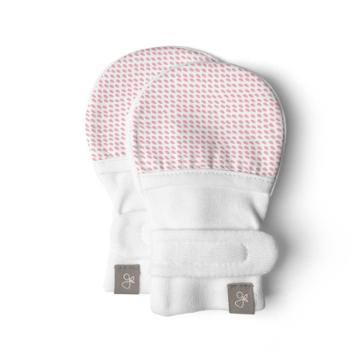 Goumikids Goumi Baby Girls' Organic Cotton Drops Mittens  Pink