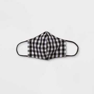 Women's Mask - Who What Wear Black/white Gingham Check