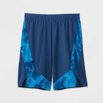 Boys' Print Block Performance Shorts - All In Motion Blue