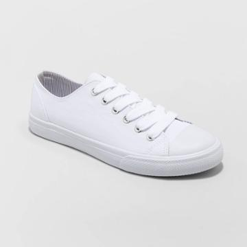 Women's Bayla Lenia-wo's Vulcanized Canvas Sneakers - Universal Thread White