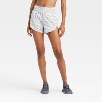 Women's Animal Print Mid-rise Run Shorts 3 - All In Motion Gray