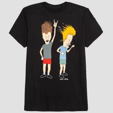 Men's Beavis & Butthead Short Sleeve Graphic T-shirt - Black - S, Men's,