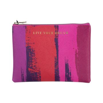 Ruby+cash Zip Cosmetic Bag - Live Your Dream