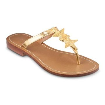 Lilly Pulitzer For Target Women's Gold Sandals -