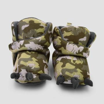 Baby Boys' Dino Camo Constructed Bootie Slipper - Cat & Jack Green