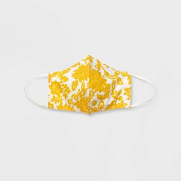 Women's Mask - Who What Wear Yellow Floral
