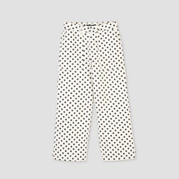 Women's Polka Dot Mid-rise Ankle Length Pants - Who What Wear Cream 2, Women's, Ivory
