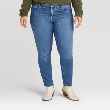 Women's Plus Size High-rise Skinny Jeans - Universal Thread Medium Wash 14w, Women's, Blue
