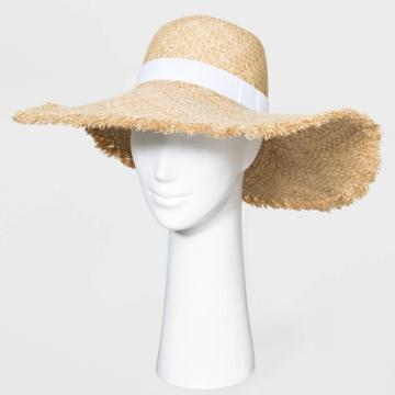 Women's Dome Fringe Novelty Style Hats - A New Day Natural One Size, Women's, Yellow