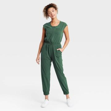 Women's Short Sleeve Jumpsuit - All In Motion Green