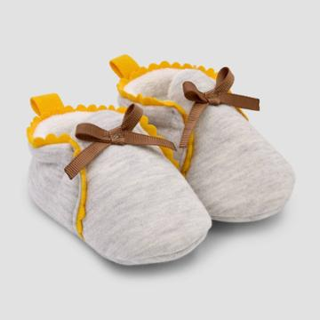 Baby Girls' Scalloped Constructed Bootie Slipper - Cat & Jack Tan
