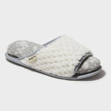 Women's Dearfoams Cloud Step Slide Slippers - Alabaster