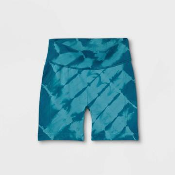 Girls' 5 Seamless Bike Shorts - All In Motion Teal