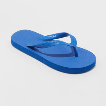 Boys' Wayne Flip Flop Sandals - Cat & Jack Blue S, Boy's,