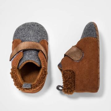 Baby Girls' High Top Sneakers - Cat & Jack Brown