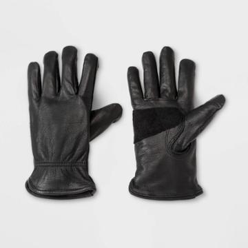Men's Leather Glove - Goodfellow & Co Black S/m, Men's, Size: